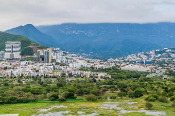 View of Monterrey suburbs, Mexico