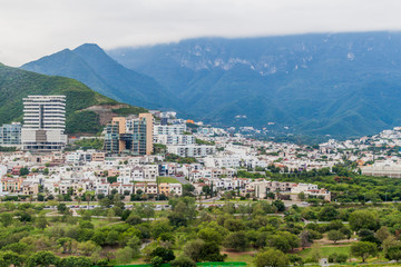 View of Monterrey suburbs, Mexico