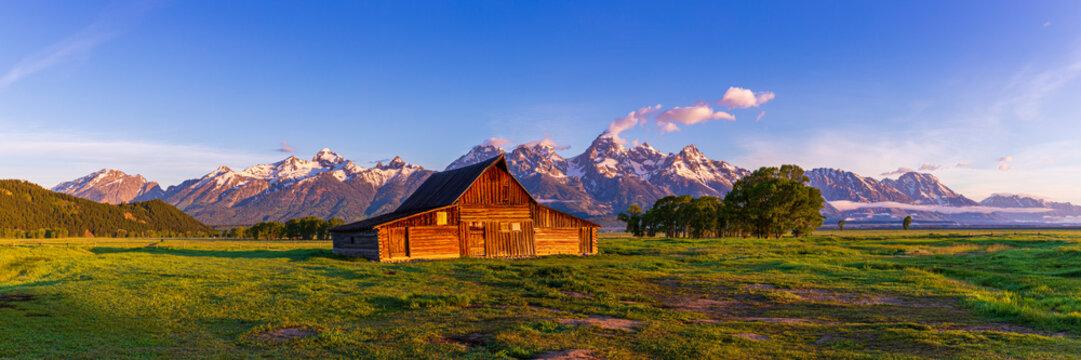 T.A. Moulton Barn at Sunrise