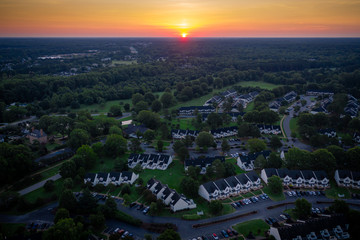Fotobehang Verenigde Staten Aerial of Williamsburg Virginia
