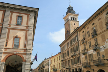 Historic old town of Cuneo, Italy