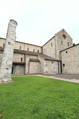 Basilica of Aquileia, UNESCO world heritage site and landmark in the province of Udine, Italy.
