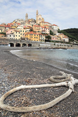 coastal landscape at Cervo, Italy