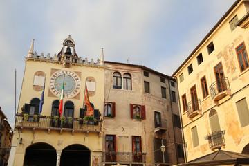 historic old town of Bassano del Grappa, Italy