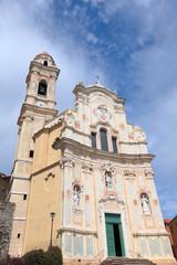 medieval church in Cervo, Italy