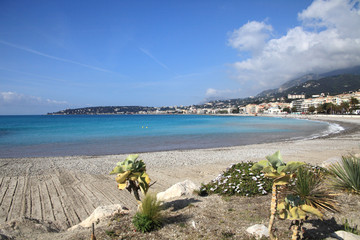beach of Menton, Southern France