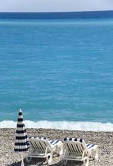 beautiful beach in Nice, France