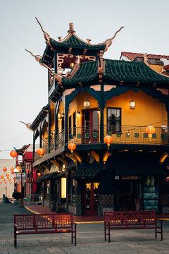 Architecture in Chinatown, Los Angeles, California