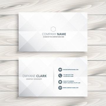 minimal white business card design template