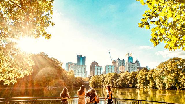 View from Piedmont park, Midtown, Atlanta