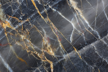 Gold,yellow and white patterned of dark gray marble pattern (Gold Russia) for texture background and design product.