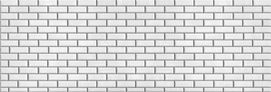 panorama brick tile wall ,ceramic texture for background