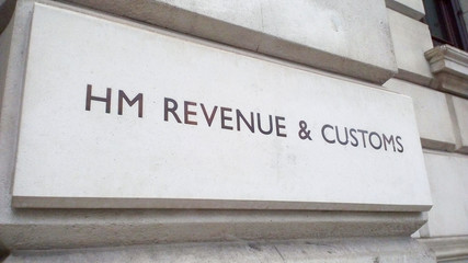 HMRC sign in London Wall mural