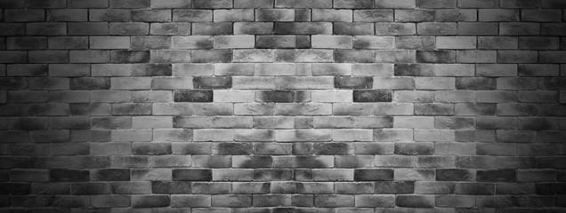 Fototapete - dark brick texture wall background
