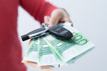Car and insurance  concept  money