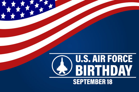 US Air Force Birthday. September 18. Poster, Template, Card, Banner, Background Design.