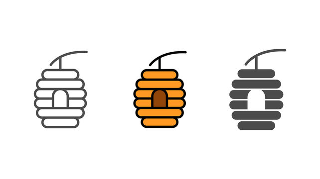 Beehive vector icon sign symbol