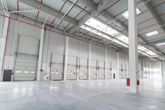 a big empty warehouse