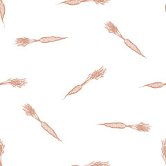 Seamless pattern with hand drawn pastel carrot