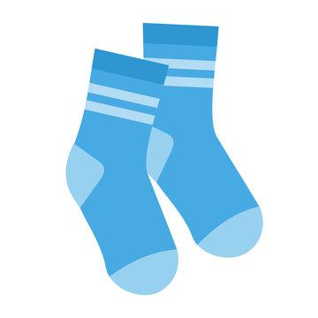 Pair of socks, flat style on white background