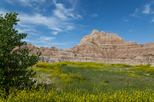 Badlands National Park Mountain Formations