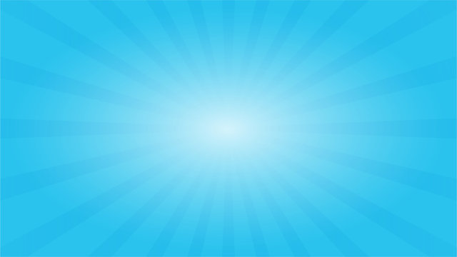 Abstract blue sky background with Starburst effect. and Sunburst beams element.