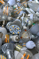 used poor energy saving led lamps