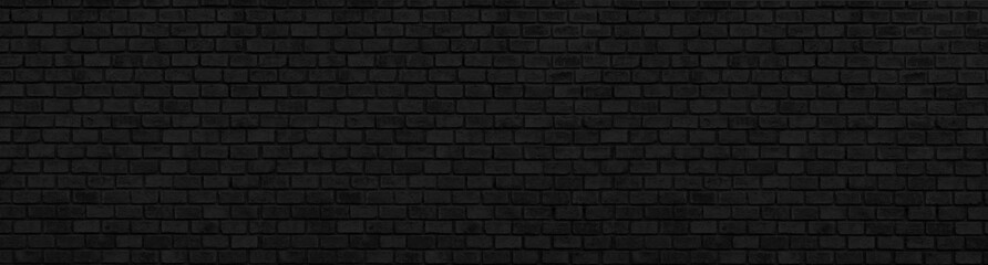panorana black and White Structural Brick Wall. Panoramic Solid Surface. stone background.