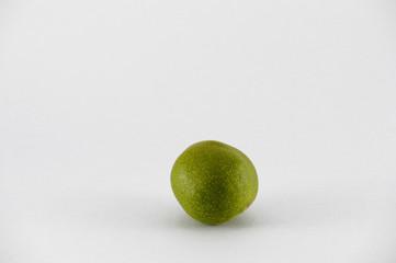 Isolated Green Walnut Healthy Food
