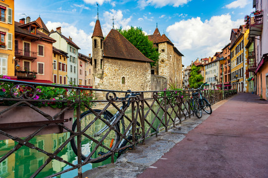 Streets of Annecy, France.