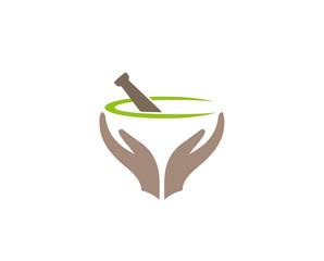 Creative Abstract Apthecary care Logo Design Vector Symbol Illustration