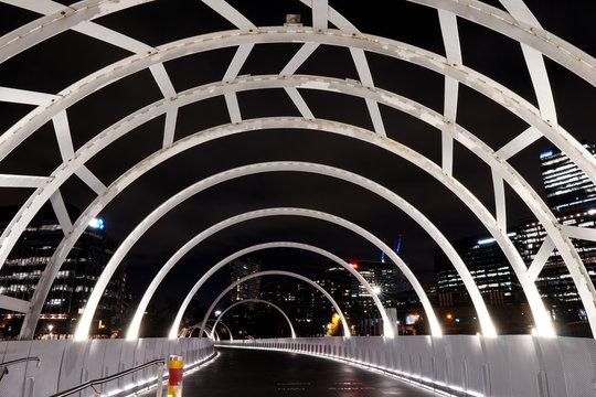 Web Bridge, Melbourne CBD night life