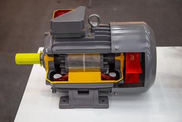 Cut away show internal part of electric motor