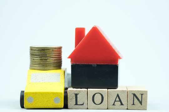 Home and car loan of living for investment real estate concept.