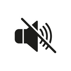 No sound icon. Vector. Isolated.