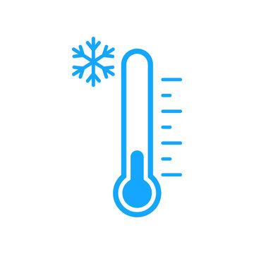 Cold temperature icon. Vector. Isolated.