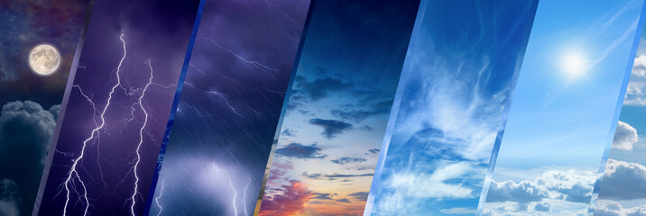 Weather forecast concept, climate change background