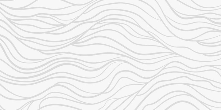 Wavy background. Monochrome backdrop with curved stripes. Repeating abstract waves. Stripe texture with many lines. Black and white illustration