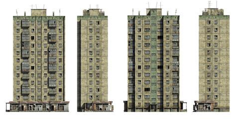 Abandoned Soviet 12-storey panel house