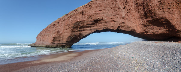 huge natural arches on the Atlantic coast of Morocco