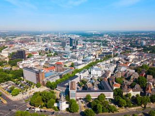 Dortmund city centre aerial view