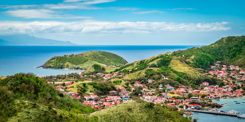 Wall Mural - Panoramic landscape view of Terre-de-Haut, Guadeloupe, Les Saintes, Caribbean Sea.