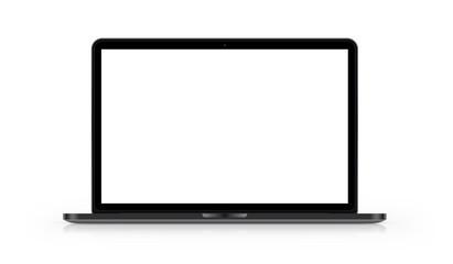 Laptop mit weißem Hintergrund