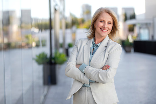 Headshot of attractive middle aged business woman professional, possibly accountant, architect, businesswoman, lawyer, attorney,