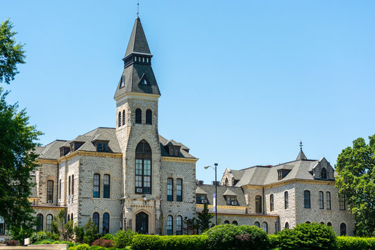 Kansas State University Administration Building on a Sunny Day