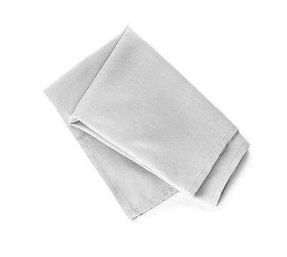 Fabric napkin on white background