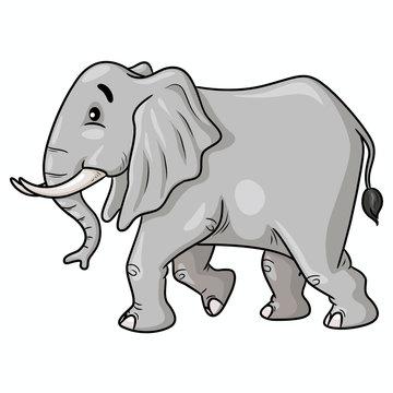 Elephant Walk Cartoon