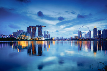 Papiers peints Singapoure Singapore city skyline