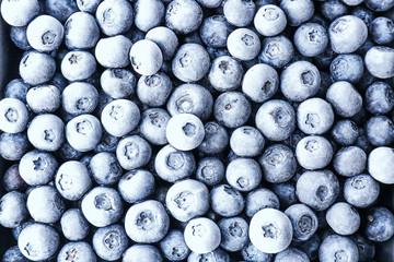 Tasty frozen blueberries, top view Fototapete