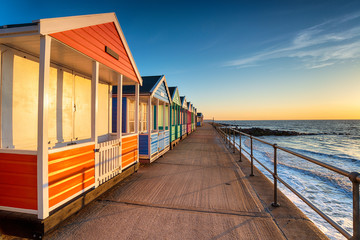 Wall Mural - A row of pretty beach huts at Southwold